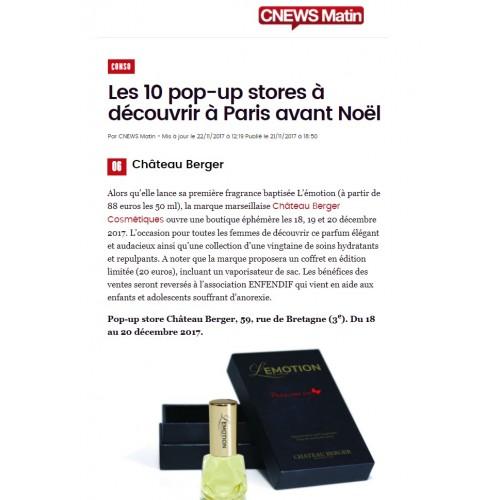 Parution Château Berger sur le site cnewsmatin.fr - 21.11.2017