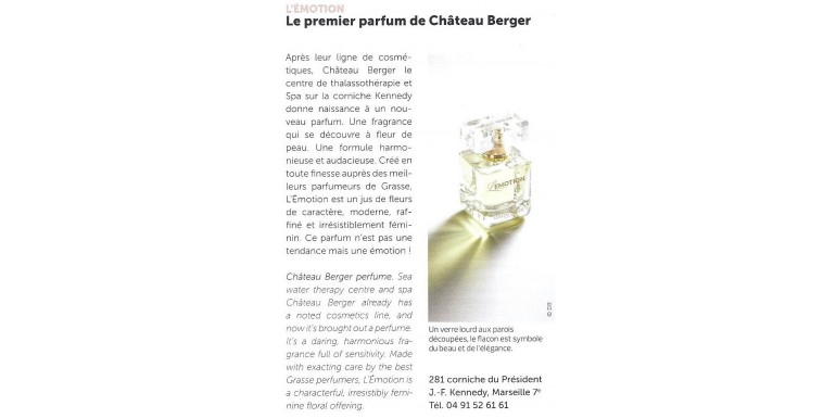 Le premier parfum de Chateau Berger L ' Emotion