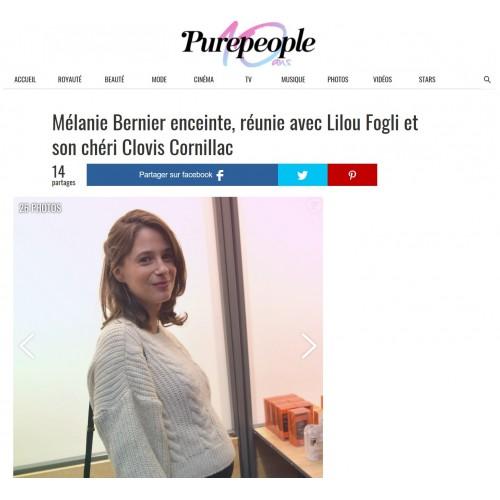 Pure People - Mélanie Bernier réunie avec Lilou Fogli et son chéri Clovis Cornillac