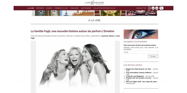 Luxe Magazine - La famille Fogli, une nouvelle histoire autour du parfum l'Emotion