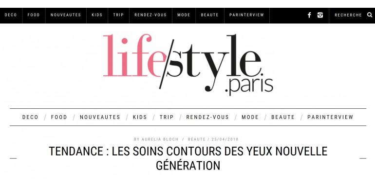 Lifestyle.paris - spécial contour des yeux - Avril 2018