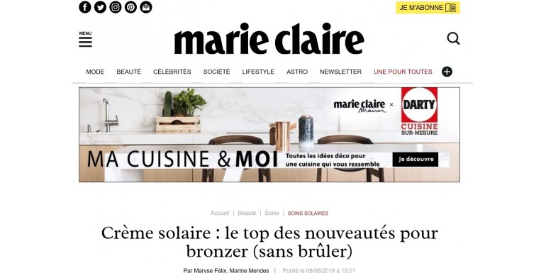 Marie-Claire.fr - Juin 2018 - Protection solaire