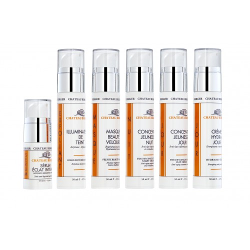 Exceptional skin care treatment with Chateau Berger line