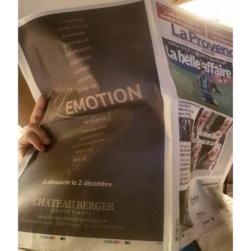Le 1er décembre, Château Berger donne les derniers indices sur L'Emotion