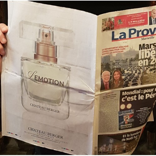 On December 2nd,  Chateau Berger Cosmetiques launches their perfume : l'Emotion !