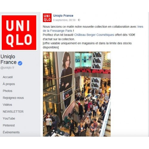 Uniqlo, the Japanese giant has chosen a young French brand Château Berger Cosmetics for a partnership