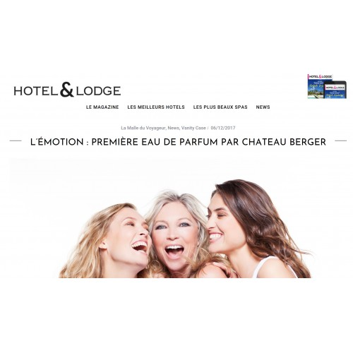 Hôtel & Lodge talks about our perfume !